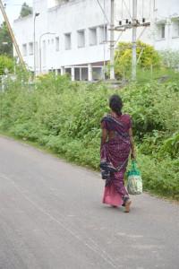 Frau im Sari