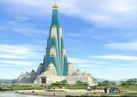 Tempel-Wolkenkratzer Indien